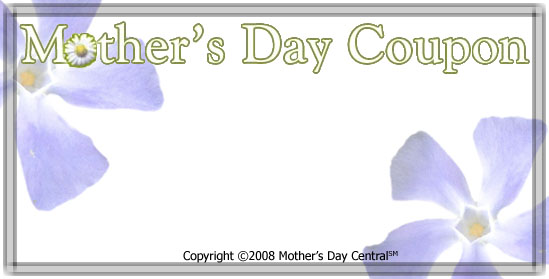 Mother's Day Printable Gift Coupons