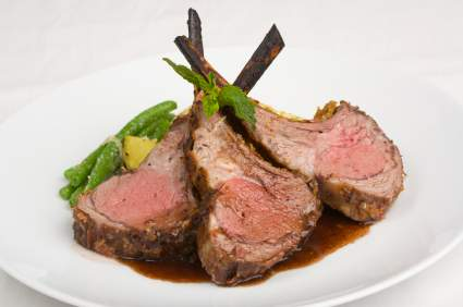 Few dishes appear more elegant than rack of lamb ... but this entree ...